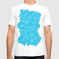 Ab Outline Electric Mens Fitted Tee White SMALL