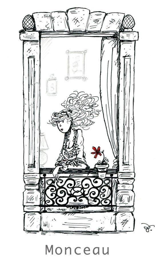 A Few Parisians: Monceau by David Cessac Art Print