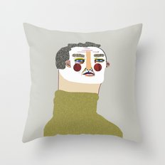 Man Illustration. Throw Pillow