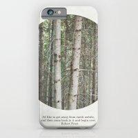 robert frost's birch trees iPhone 6 Slim Case