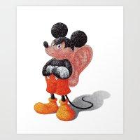 Mickey's Third Ear  Art Print