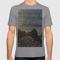 The Ocean is Calling Mens Fitted Tee Athletic Grey SMALL