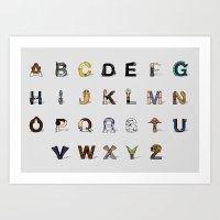 S.W Alphabet (Horizontal… Art Print
