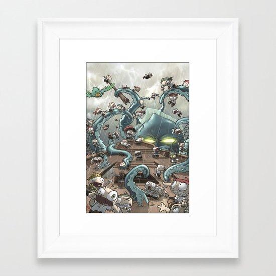 Revenge of the Kracken Framed Art Print
