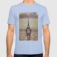 Paris, City Of Light Mens Fitted Tee Athletic Blue SMALL