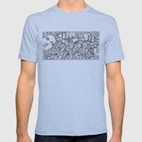 People-B Mens Fitted Tee Athletic Blue SMALL