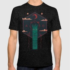 The Crimson Tower Mens Fitted Tee Tri-Black SMALL