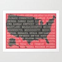 50 States of America Art Print
