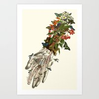 outreached anatomical collage art by Bedelgeuse Art Print