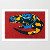 Salamander Art Print