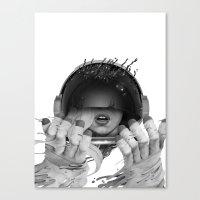 Space Noir Canvas Print