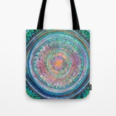 Pink and Turquoise Mandala Tote Bag
