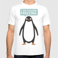 Talking Penguin Mens Fitted Tee White SMALL