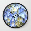Soft Periwinkle Hydrangea Wall Clock