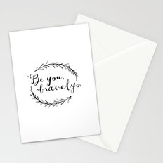 Be You Bravely Stationery Cards