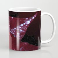 Diamonds on red velvet Mug