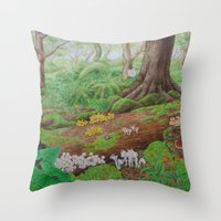 A Day Of Forest (5). (de… Throw Pillow