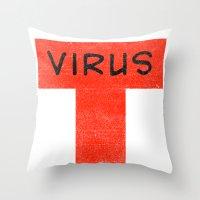 T Virus Throw Pillow