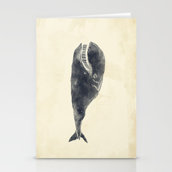 Whale Stationery Card