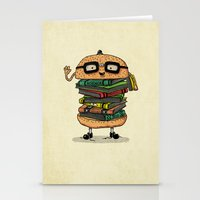 Geek Burger v.2 Stationery Cards