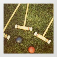 Croquet Canvas Print