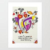 Love is louder Art Print