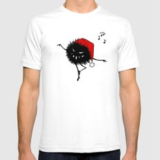 Dark Evil Christmas Bug Mens Fitted Tee White SMALL