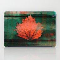 Rusty Red Dried Fall Lea… iPad Case