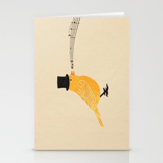 Classical Canary  Stationery Card