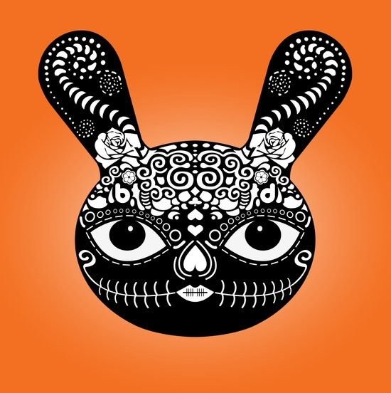 Day Of The Dead Bunny Art Print