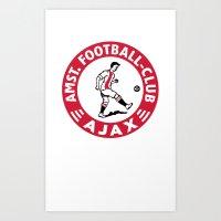 AFCA Ajax Amsterdam Art Print