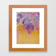 Pink And Purple Foliage … Framed Art Print