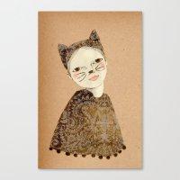 Kiki Kitty Canvas Print