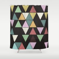 Shower Curtain featuring Dark Triangles by Metron