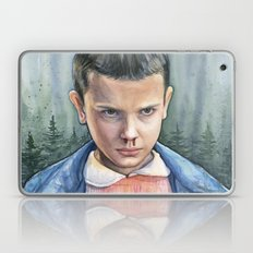 Eleven from Stranger Things Watercolor Portrait Art Laptop & iPad Skin