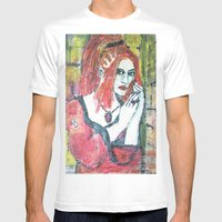 RED HOT GOTH CHICK Mens Fitted Tee White SMALL
