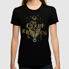The Court of Terrasen  Womens Fitted Tee Black SMALL