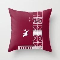 Diving Horse Throw Pillow