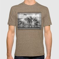 Palm Trees in the Suburbs Mens Fitted Tee Tri-Coffee SMALL