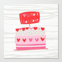 Love you more than cake Canvas Print