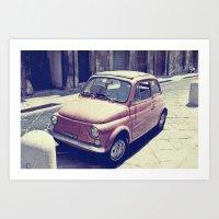 Fiat 500 - Italia Car Art Print