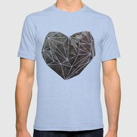 Heart Graphic 4 Mens Fitted Tee Tri-Blue SMALL