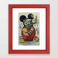 Acid Slouse Framed Art Print