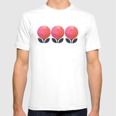 Peony Perfection SMALL Mens Fitted Tee White