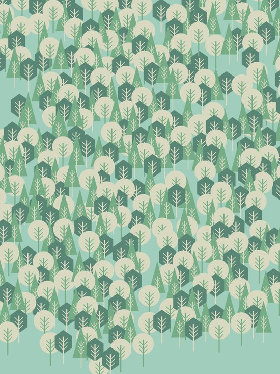 Geometric Woods Art Print