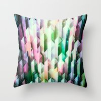 vivid quartz rising Throw Pillow