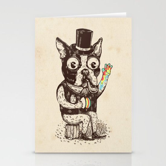 Strange Dog Stationery Card