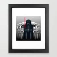 Darth Vader And Stormtro… Framed Art Print