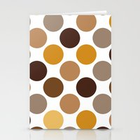 Big Loving Dots: Brown Stationery Cards