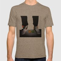 OUT OF BODY Mens Fitted Tee Tri-Coffee SMALL